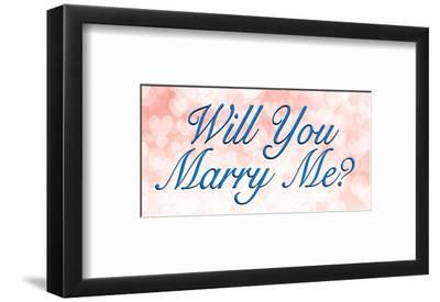 Will You Marry Me Art Print By Artcom
