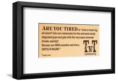 Trick 'N' Treat Community--Framed Art Print