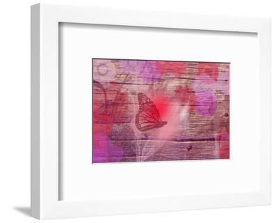 Wooden flower-Claire Westwood-Framed Art Print