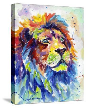Colorful African Lion-Sarah Stribbling-Stretched Canvas Print