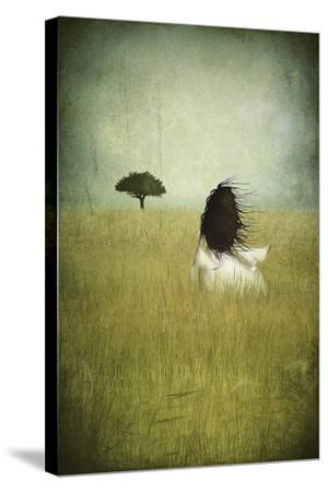 Girl On The Field-Majali-Stretched Canvas Print