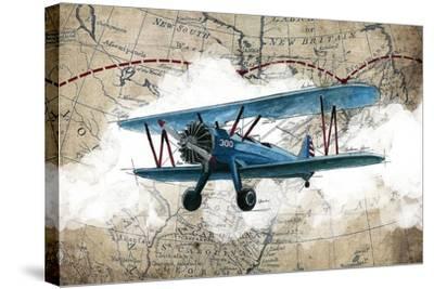 Biplane 1-GraphINC Studio-Stretched Canvas Print