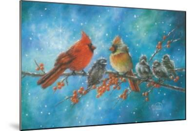 Cardinals Family-Vickie Wade-Mounted Art Print