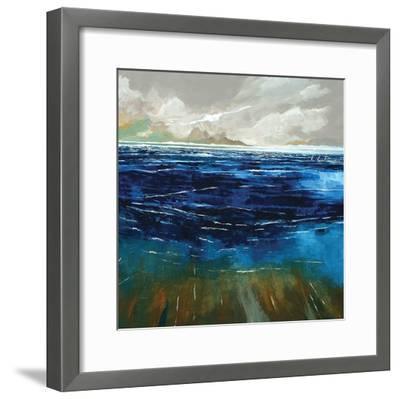 Beach and Sea-Stuart Roy-Framed Art Print