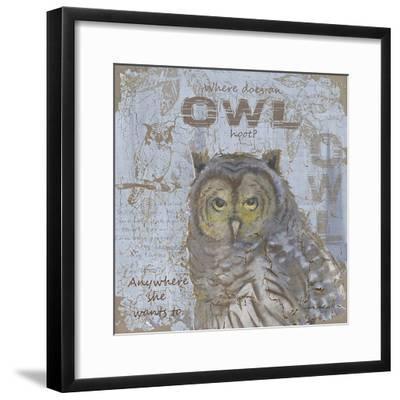 Where Does an Owl Hoot-Anita Phillips-Framed Art Print