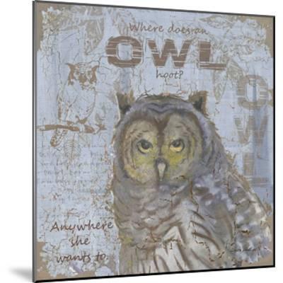 Where Does an Owl Hoot-Anita Phillips-Mounted Art Print