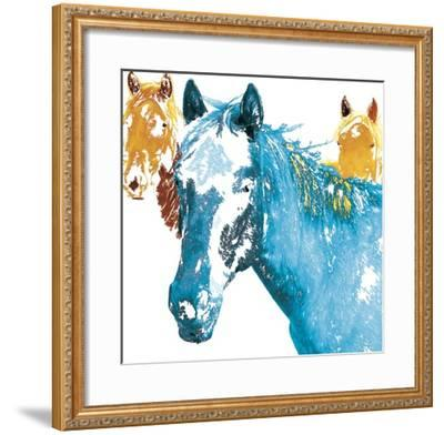 It's Cool To Be Blue-Marvin Pelkey-Framed Giclee Print