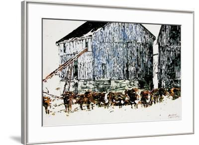 Gathered Outside on a Winter's Day-Micheal Zarowsky-Framed Giclee Print