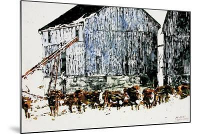 Gathered Outside on a Winter's Day-Micheal Zarowsky-Mounted Giclee Print