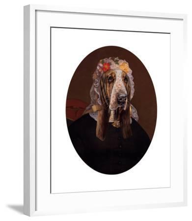La Comtesse aux fleurs-Thierry Poncelet-Framed Premium Giclee Print