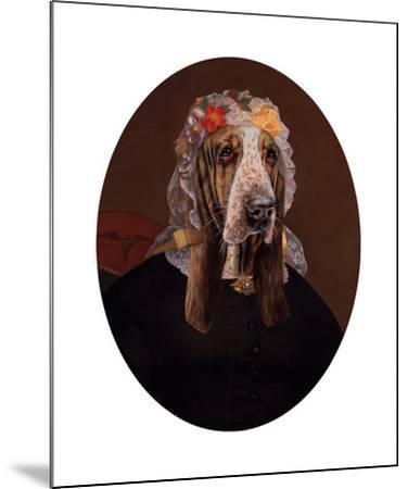 La Comtesse aux fleurs-Thierry Poncelet-Mounted Premium Giclee Print