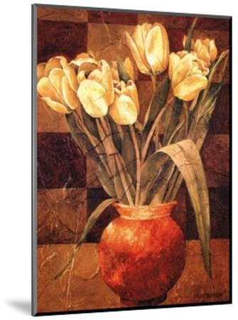 Checkered Tulips I-Linda Thompson-Mounted Art Print