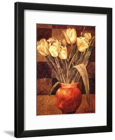 Checkered Tulips I-Linda Thompson-Framed Art Print