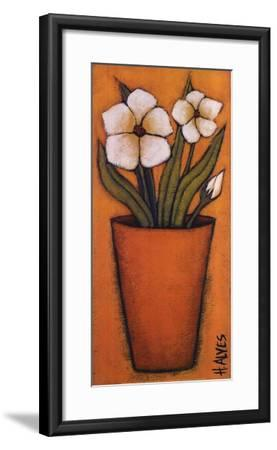 Flores Brancas II-H^ Alves-Framed Art Print