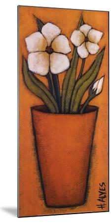 Flores Brancas II-H^ Alves-Mounted Art Print