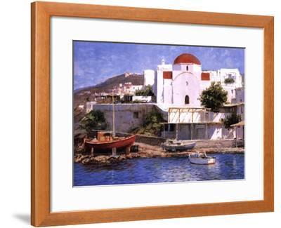 Mykonos I-George Bates-Framed Art Print