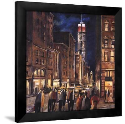 New York Night-Didier Lourenco-Framed Art Print