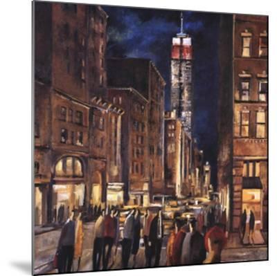 New York Night-Didier Lourenco-Mounted Art Print