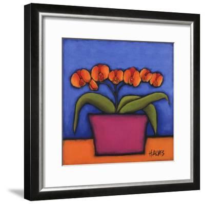 Orquidia Laranja-H^ Alves-Framed Art Print