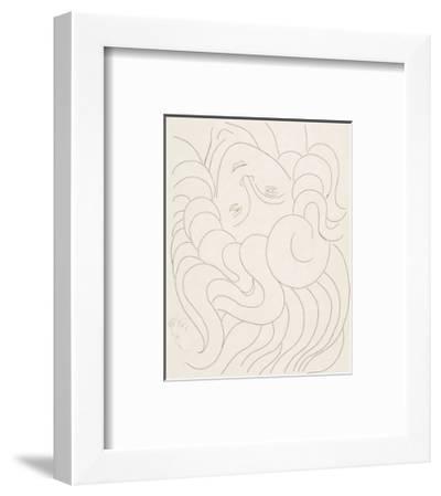 Female Head, 1930-32-Henri Matisse-Framed Art Print