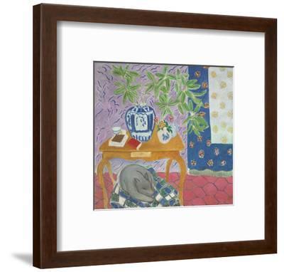 Interior with a Dog, 1934-Henri Matisse-Framed Art Print