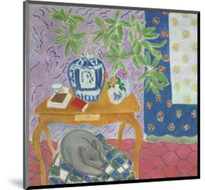 Interior with a Dog, 1934-Henri Matisse-Mounted Art Print
