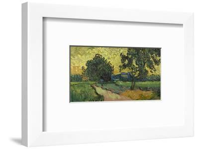 Landscape at Twilight, 1890-Vincent van Gogh-Framed Art Print