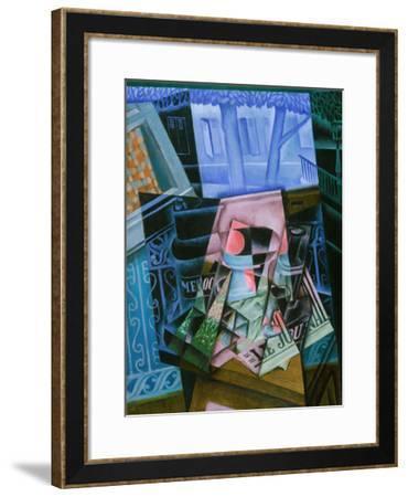 Still Life before an Open Window, Place Ravignan, 1915-Juan Gris-Framed Art Print