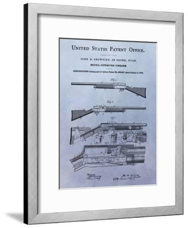 Browning Recoil Firearm, 1900-Dan Sproul-Framed Giclee Print