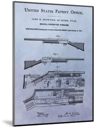 Browning Recoil Firearm, 1900-Dan Sproul-Mounted Giclee Print