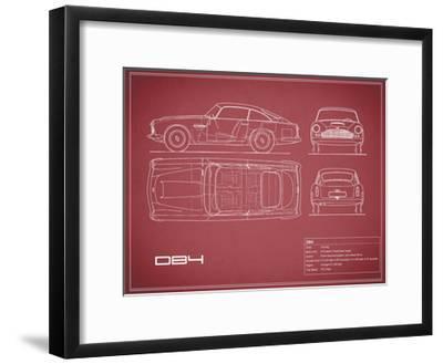 Aston DB4 -Maroon-Mark Rogan-Framed Giclee Print