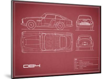 Aston DB4 -Maroon-Mark Rogan-Mounted Giclee Print