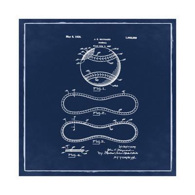 Baseball, 1927-Blue-Bill Cannon-Framed Giclee Print