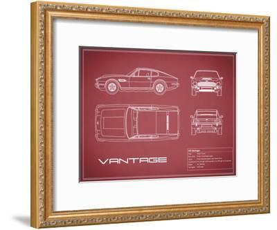 Aston V8 Vantage-Maroon-Mark Rogan-Framed Giclee Print