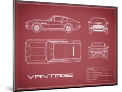 Aston V8 Vantage-Maroon-Mark Rogan-Mounted Giclee Print