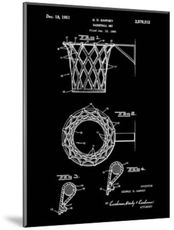 Basketball net, 1950-Black-Bill Cannon-Mounted Giclee Print