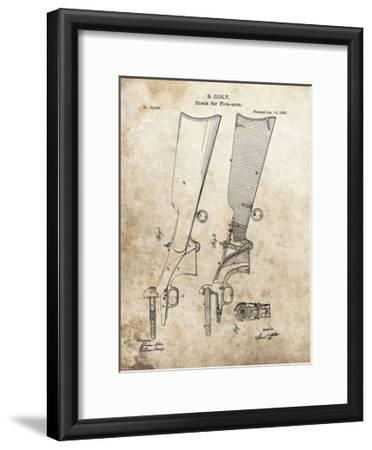 Colt Firearm Stock,1859-Dan Sproul-Framed Giclee Print