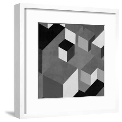 Cubic in Grey I-Todd Simmons-Framed Giclee Print