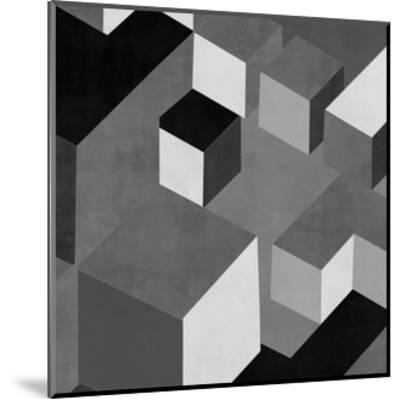Cubic in Grey I-Todd Simmons-Mounted Giclee Print