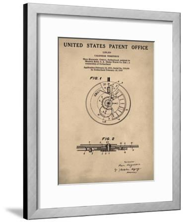 Calendar Time Piece, 1950- Ant-Bill Cannon-Framed Giclee Print