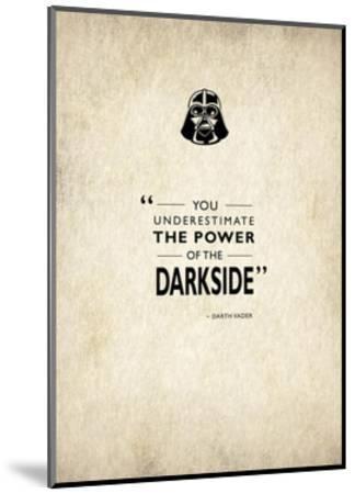Darth Vader-Mark Rogan-Mounted Giclee Print