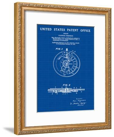 Calendar Time Piece, 1950- Blu-Bill Cannon-Framed Giclee Print