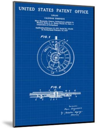 Calendar Time Piece, 1950- Blu-Bill Cannon-Mounted Giclee Print