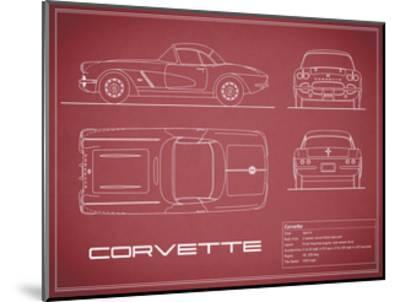 Corvette 33BHP-Maroon-Mark Rogan-Mounted Giclee Print