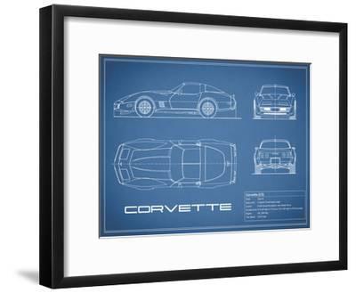 Corvette C3-Blue-Mark Rogan-Framed Giclee Print