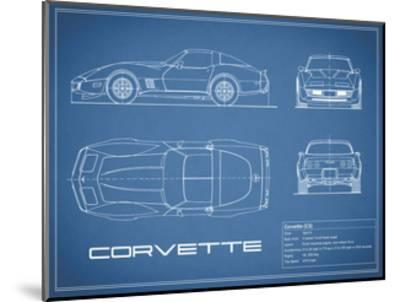 Corvette C3-Blue-Mark Rogan-Mounted Giclee Print