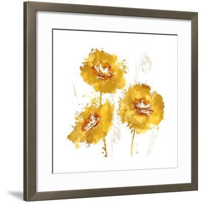 Flower Burst Trio in Amber-Vanessa Austin-Framed Giclee Print