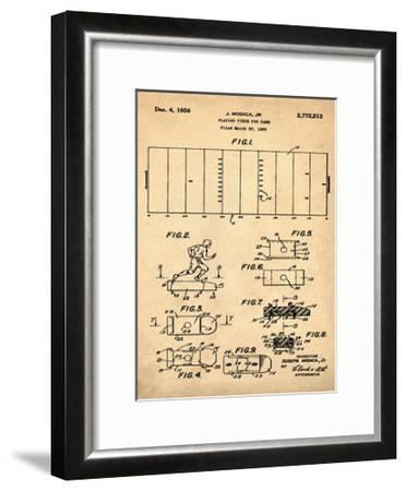 Football game piece, 1955-Anti-Bill Cannon-Framed Giclee Print