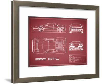 Ferrari 288-GTO-Maroon-Mark Rogan-Framed Giclee Print