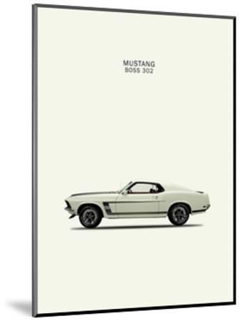 Ford Mustang Boss302 1969-Mark Rogan-Mounted Giclee Print